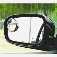 New Driver 2 Side Wide Angle Round Convex Car Vehicle Mirror Blind Spot Auto RearView 1Pair Drop Shipping стоимость