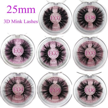 Mikiwi 25mm False Eyelashes Wholesale Thick Strip 25mm 3D Mink Lashes Custom Packaging Label Makeup Dramatic Long Mink Lashes 1 pair 25mm 3d mink lashes long natural false eyelashes makeup volumn fake lashes thick 25mm full strip lashes maquiagem 6d24
