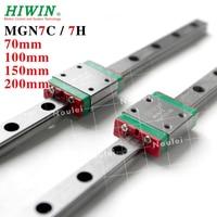HIWIN 7mm Origin Linear Rail 2pcs MGN7 70mm 100mm 150mm 200mm and 2pcs MGN7H MGN7C Guide Bearing Blocks MGN 7