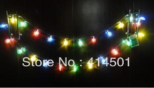 New Year four-color sun flower LED battery Christmas holiday lights flashing  wedding bar shop decoration lamp String light