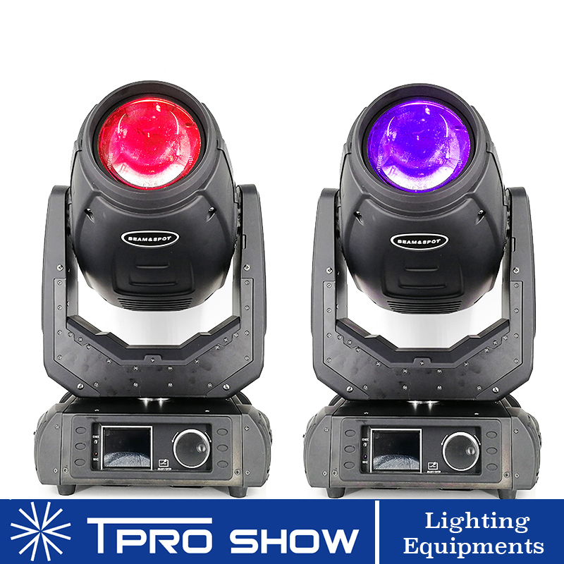 2pcs 280W Lyre Moving Head 3in1 Beam Gobo Wash 3in1 10R Lumiere Spot Moving Head Light for Stage DJ Disco Club MHB280