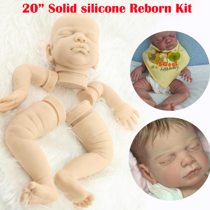 Soft silicone reborn baby doll kits 20inch lifelike doll unpainted dolls parts legs arms and head fashion toys for adults Soft silicone reborn baby doll kits 20inch lifelike doll unpainted dolls parts legs arms and head fashion toys for adults