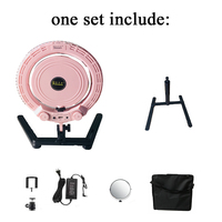 "Yidoblo pink QS 280 10"" mini Beauty Ring Light Ring lamp makeup with mirror, table stand, Mobile phone holder and soft bag"