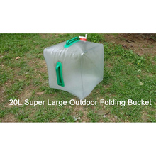 20L Outdoor Foldable Folding Collapsible Transparent Drinking Water Bag Car Water Carrier Container Drinking Water Storage Bags