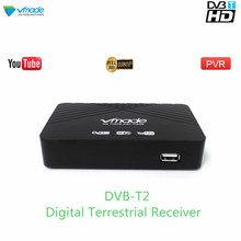 Vmade 2019 Hot Sale HD 1080P TV Tuner DVB T2/T Digital Terrestrial Receiver Set Top Box Support H.264 MPEG 2/4 Youtube PVR