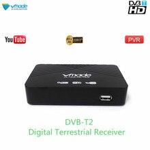Vmade 2019 gorąca sprzedaż HD 1080P Tuner TV DVB T2/T odbiornik naziemnej telewizji cyfrowej zestaw obsługa dekodera H.264 MPEG 2/4 Youtube do odzyskiwania oparów benzyny na
