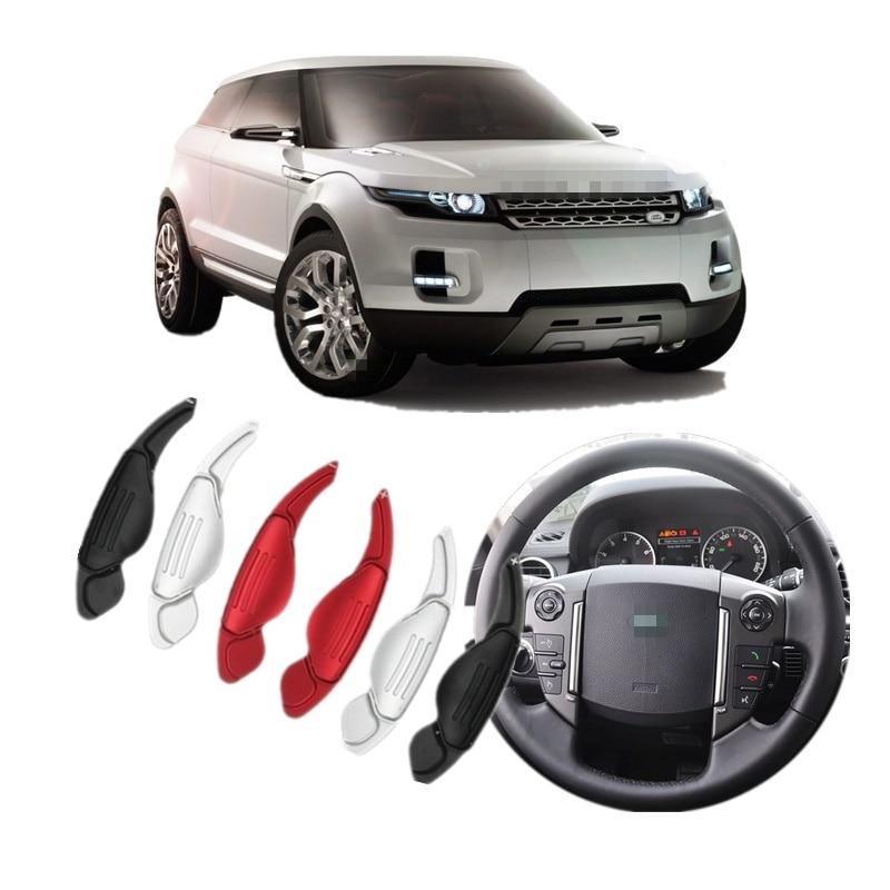 Πλαίσιο αλλαγής ταχυτήτων αλουμινίου τιμονιού για Land Rover Discovery 4 Range Rover Sport Evoque LR2 LR4 Αξεσουάρ αυτοκινήτου