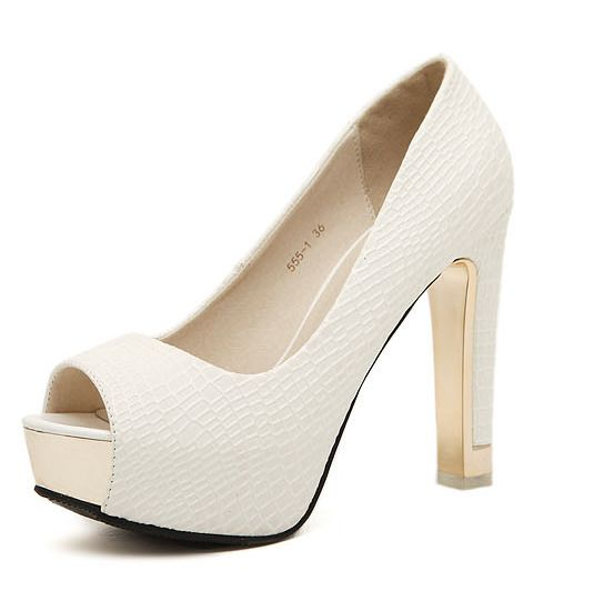 ФОТО White black extra high heels women's peep toes pumps shoe spring summer PR765 high quality quick shipping on sales women pump