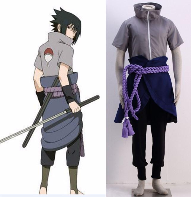 Naruto Sasuke Uchiha outfit Cosplay Costume-in Anime ...