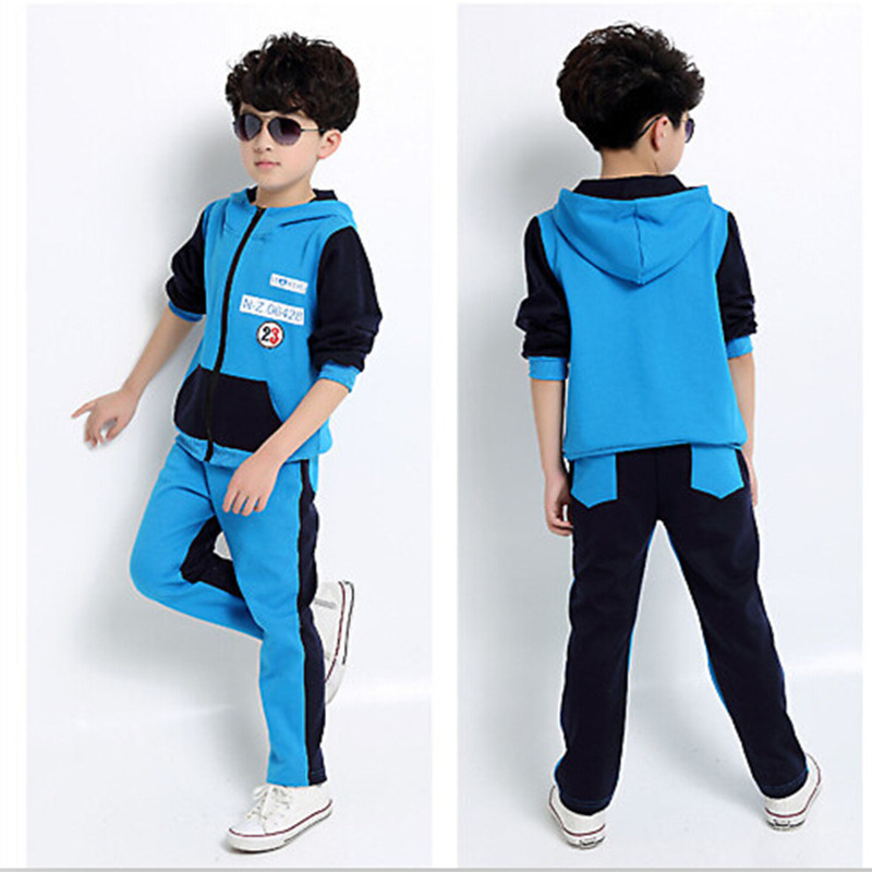 2016 Brand New Spring Autumn Boys Cotton Sports Wear Long Sleeve Hoodies +Sports Trousers Fashion Clothing Sets Hot Sale 2017 new boys clothing set camouflage 3 9t boy sports suits kids clothes suit cotton boys tracksuit teenage costume long sleeve