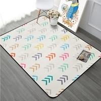 Colorful Arrow Cartoon Geometric Tapete Carpets Living Room Bedroom Decor Area Rugs Children Kids Soft Play Non Slip Floor Mats