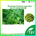 Hot sale!  Moringa Tree Leaf Extract/Moringa Oleifera extract powder Capsules 500mg*100pcs/Bag