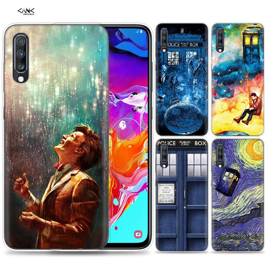 Bags Case for Samsung Galaxy Mobile Phone A50 A70 A30 A20 J4 J6 J8 A6 A8 M30 A7 Plus 2018 Note 8 9 Tardis Box Doctor Who Coque J