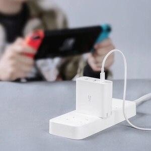 Image 2 - ZMI USB מטען 65W 3 יציאת עבור אנדרואיד iOS מתג חכם פלט סוג C 45W USB A 20W מחוון אור מתנה כבל