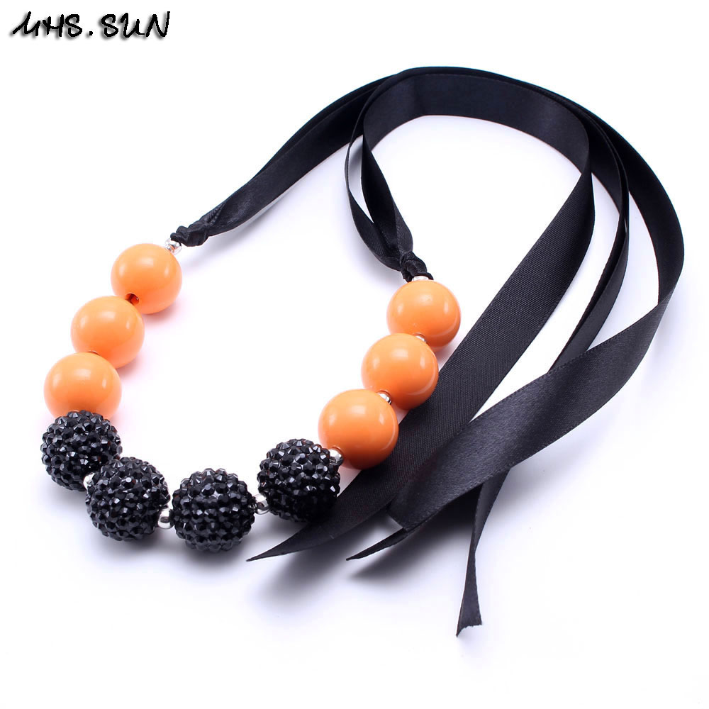 10 pieces 16mm orange chunky bubblegum beads DIY baby necklaces