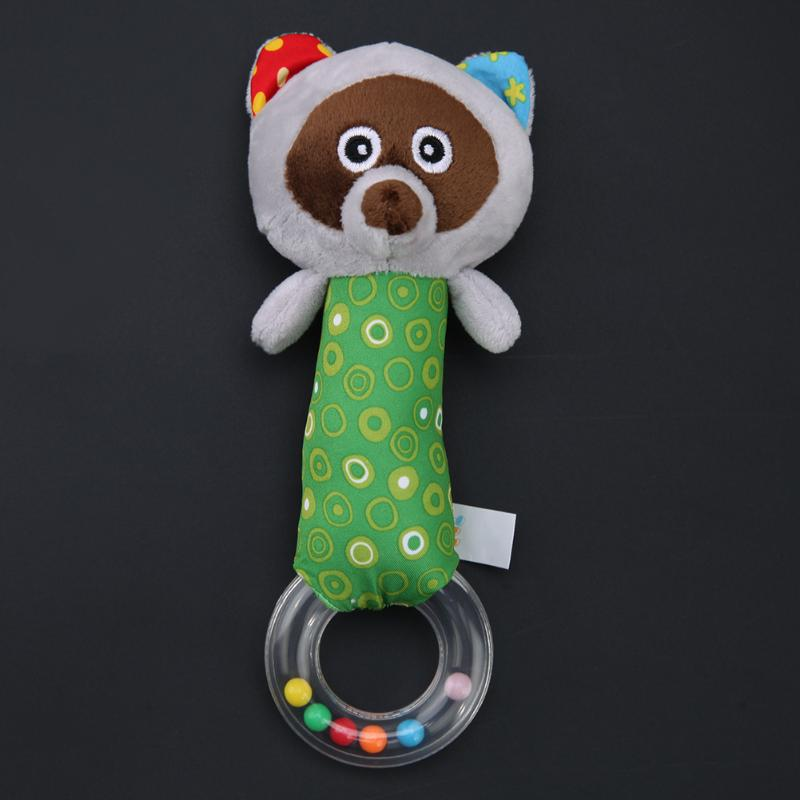 Cute Plush Animal Hand Bells Baby Toys Baby Rattle Ring Bell Toy Newborn Infant Early Educational Doll Gifts brinquedos
