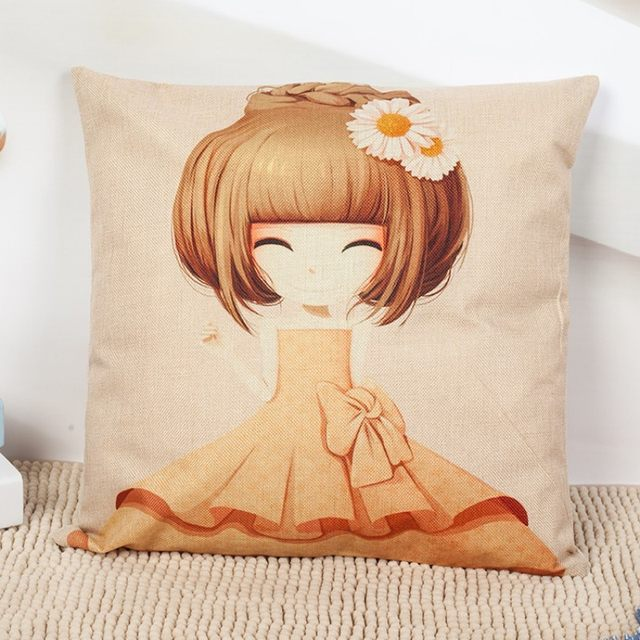 Online Shop Cute Cartoon Princess Girl Pillow Case Home Decoration Fascinating Little Girl Decorative Pillows