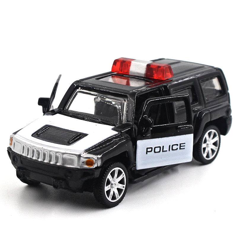 1:64 Alloy car model Hummer H6 SUV Sports car Back to the car ...