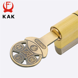 Image 4 - קאק פליז צילינדר C כיתה נחושת דלת מנעול Core עם 8 מפתחות אבטחה גבוהה נעילת ליבה כפול פתוח אנטי הצמד אנטי תרגיל חומרה