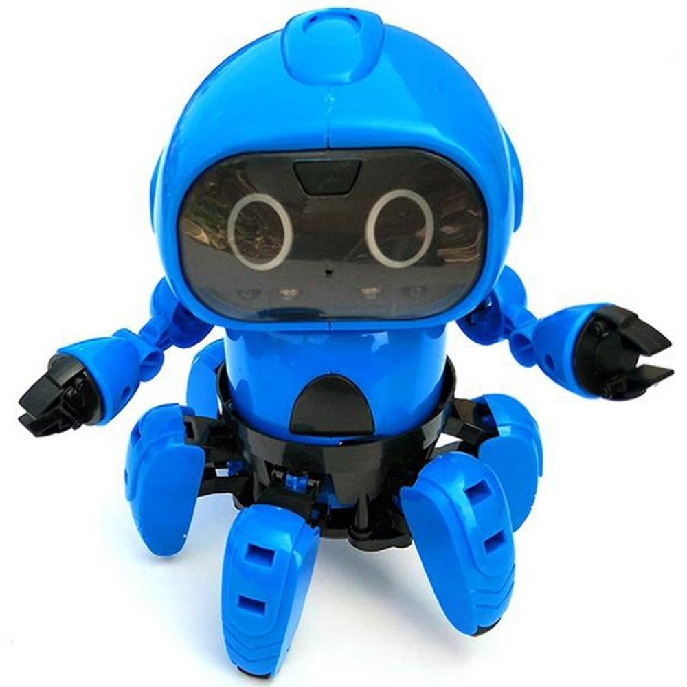 963 Intelligent Induction Remote RC Robot Toy Model With Following Gesture Sensor Obstacle Avoidance For Kids Gift Present(China)