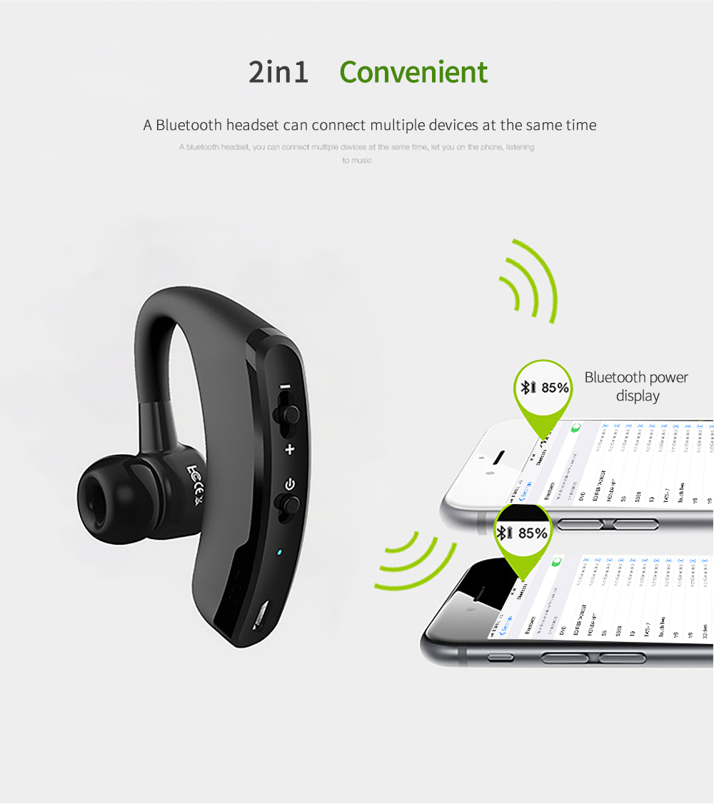 V9 Wireless Bluetooth Earphones Charging Bluetooth Headset Stereo Earbuds Cordless Headphone With Mic For Ios Android Phone Aliexpress