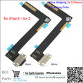 Original New Dock Connector Charger Charging Port Flex Cable for iPad 6 / Air 2 Micro USB Dock+Mic Microphone free shipping