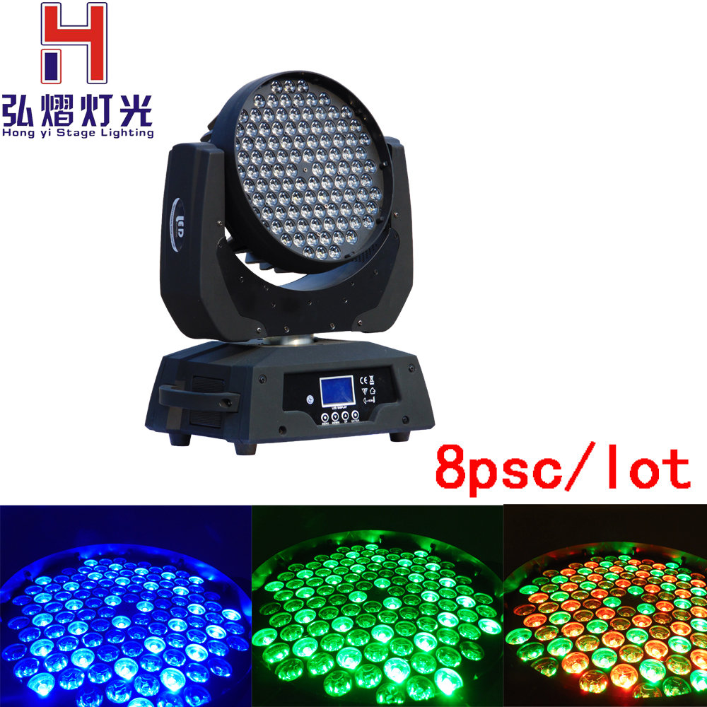 8 pcs/lot Meilleure Qualité Zoom Lavage 108x3 W RGBW LED Moving Head pour Concert