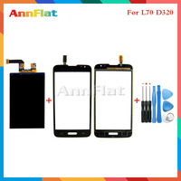 High Quality For LG Optimus L70 D320 Lcd Display Screen Touch Screen Digitizer Sensor Tools Free