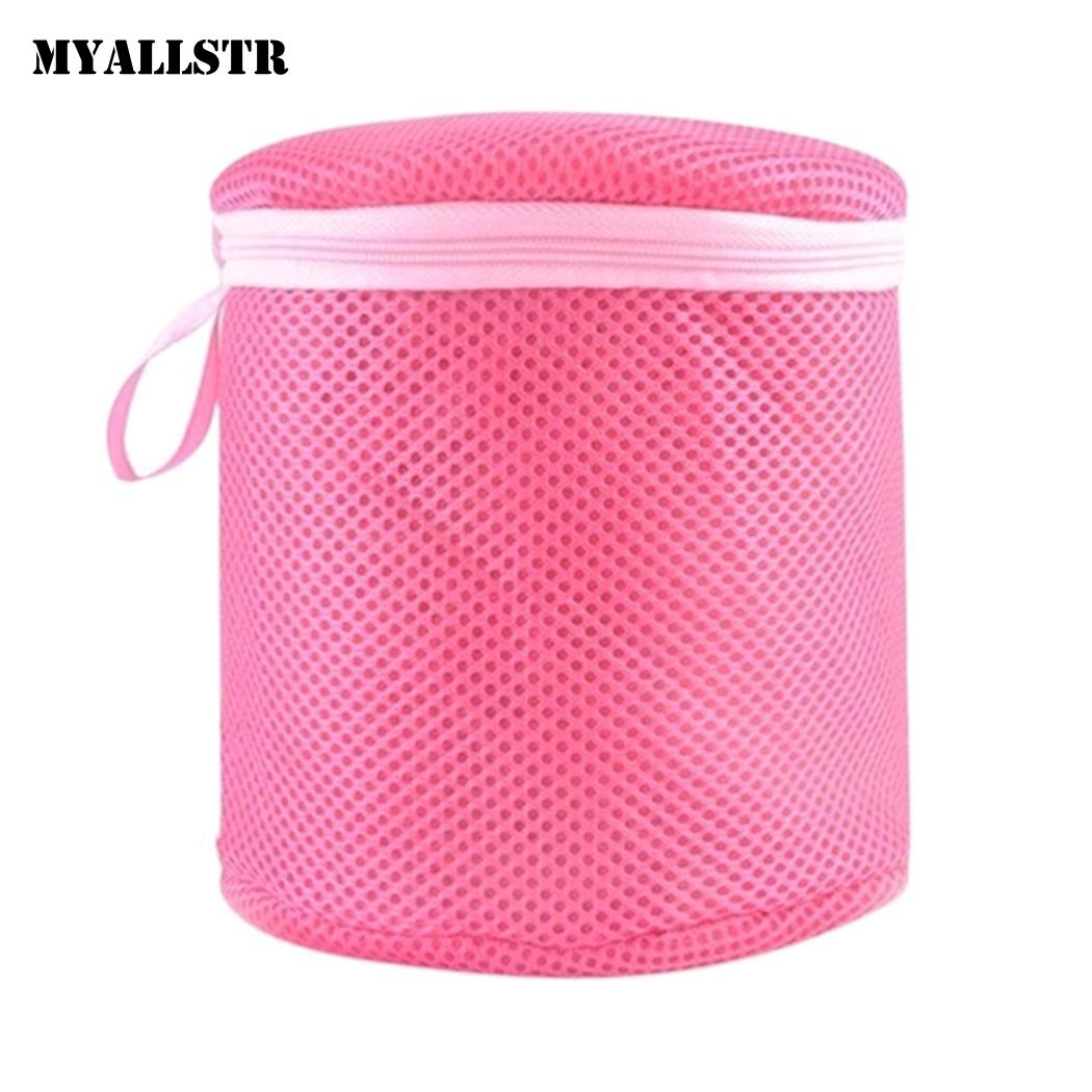 Bra Underwear Laundry Bag Basket Mesh Bag Household Triangle, Cylindrical Cleaning Laundry Wash Care