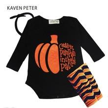 Baby boy clothing set newborn Romper set girl 2017 Autumn cotton Romper hair gloves band 3 pcs set infant Halloween suit black