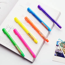 48 pcs/Lot Oblique lumina pens for reading bookmark  Color highlighter pen Fine Stationery School supplies FB968