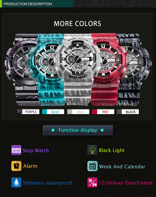 waterproof wrist digital watches for men digitais watch running mens man digitales clock multifunction creative swim stopwatchs