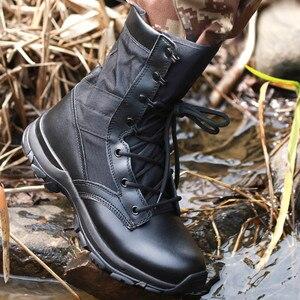 Image 5 - Outono ultra leve botas táticas masculinas forças especiais botas militares masculino ao ar livre à prova dwaterproof água antiderrapante caminhadas sapatos de viagem