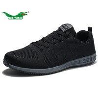 LANTI KAST US 7 11 5 Large Size Shoes Men Running Shoes Superstar Air Mesh Athletic