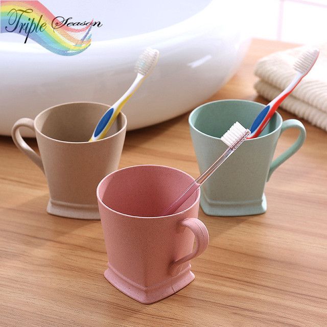 Sale 1 Piece Bathroom Solid Colors Thick Square Bathroom Tumblers/ Drinking  Cup/ Wash Bathroom