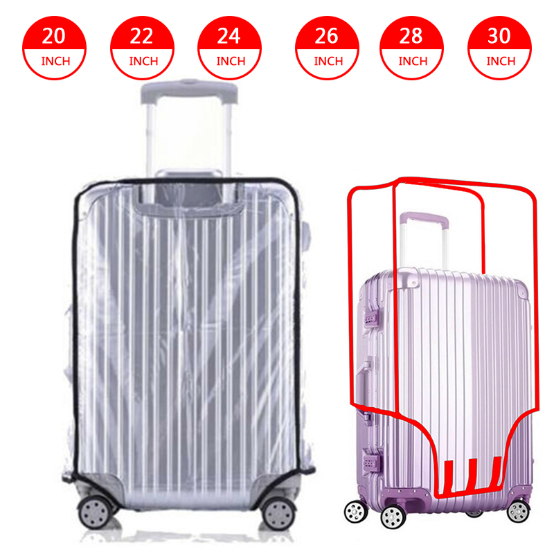 Waterproof Transparent Travel Protective Luggage Suitcase Cover Protector 20-30 Inch Luggage Cover