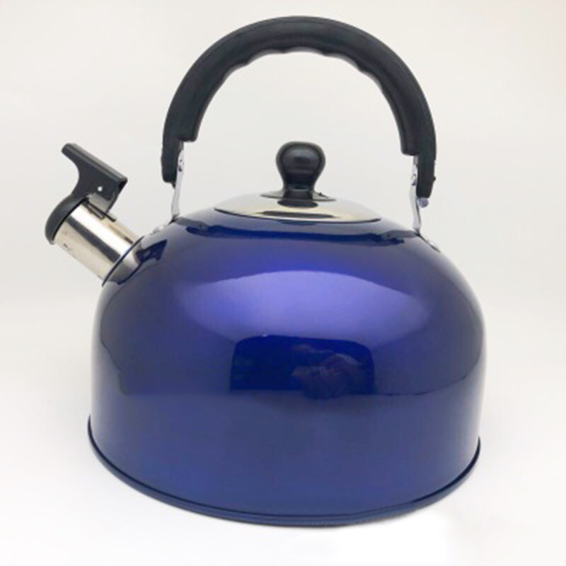 Silver Whistling Kettle Teapot Stove Top Coffee Tea Pot for kitchen Camping