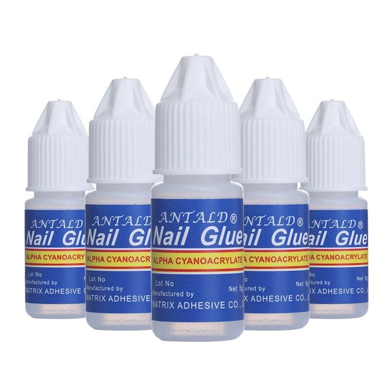 1 Set Nail Glue Fast-dry Adhesive Acrylic French False Tips 3D Decoration Glue Nail Rhinestone Manicure Tool Set