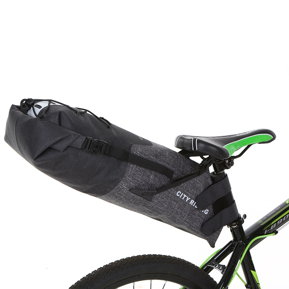 12 14L Bicycle Seatpost Bag Bike Saddle Seat Storage Pannier Cycling MTB Road Rear Pack Water