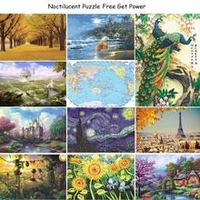 27 típus Hot Sales 1000 db puzzle Rejtvény puzzle a felnőtt unisex és a gyermekek rejtvények Oktatási Toy táj puzzle