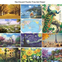 27 Types Hot Sales 1000 pieces puzzles Cartoon puzzle of Adult Unisex And Children puzzles Educational Toy landscape puzzle