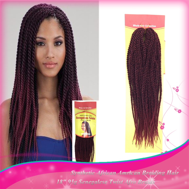 Good Quality 1pc Synthetic Long Curly Senegalese Twist Braiding Hair