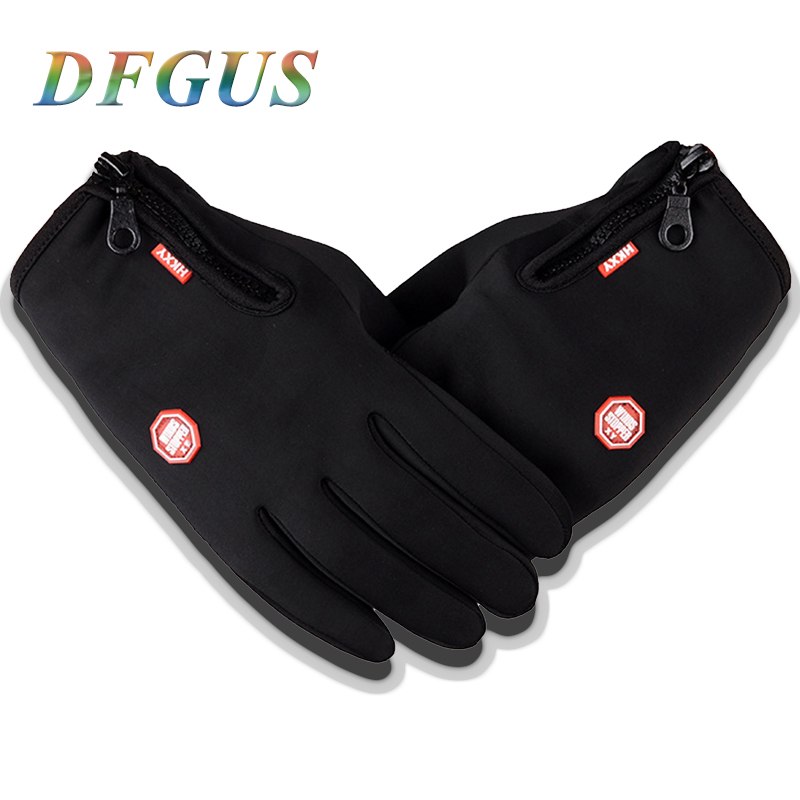 Mens winter gloves Classic Black Leather Gloves Outdoor Sport Gym Mittens Touch Screen Gloves Military Female Winter Guantes
