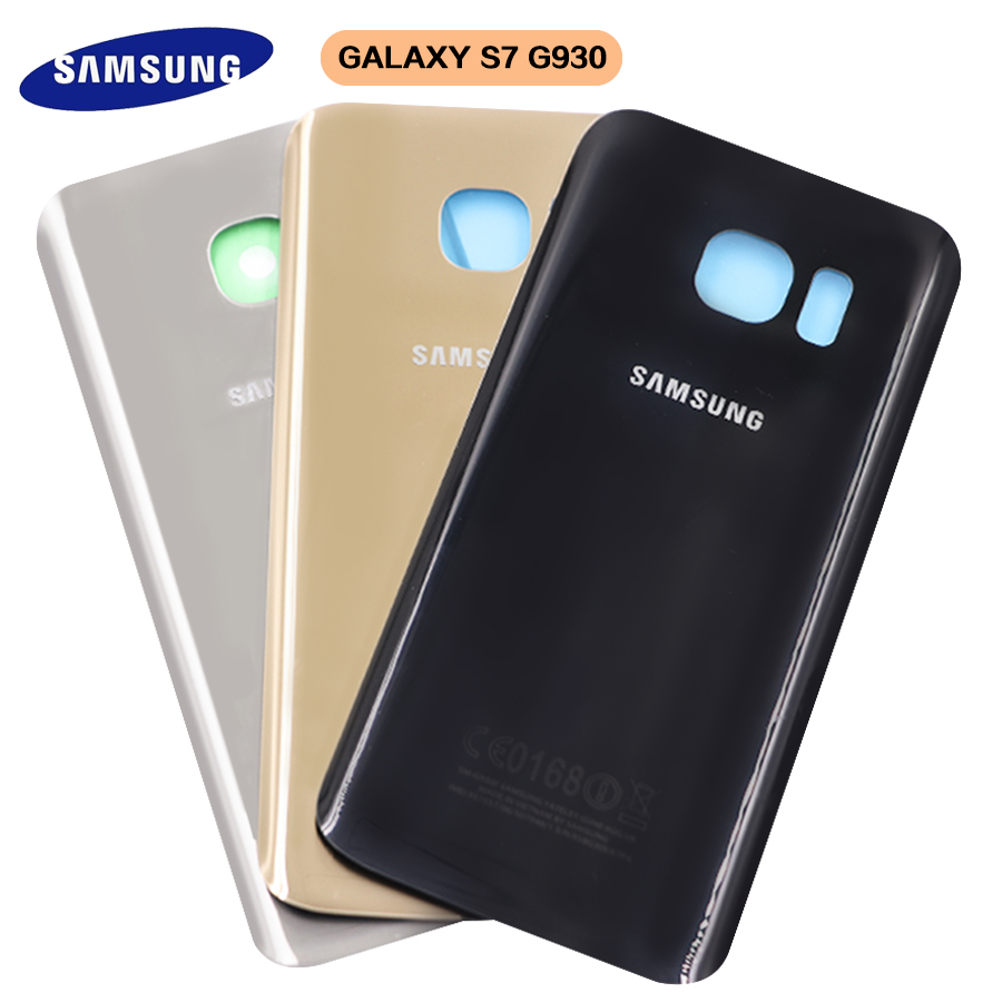 New Rear Housing Case For Samsung Galaxy S7 G930 S7 edge G935 Battery back Cover Door Rear Case Chassis Shell(China)