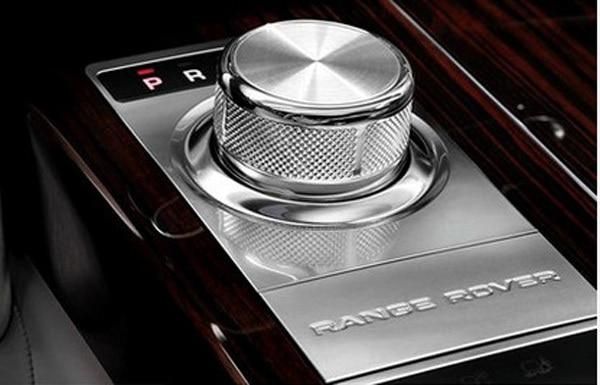Chrome Car Gear Shift Knob Cover Trim 3D Sticker For Land Rover Discovery Sport 2015 2016 2017 Range Rover Evoque Car styling