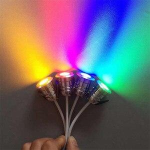 Image 4 - Mini LED, pod ziemią, lekka 1W IP67 ogród światła na zewnątrz wodoodporna okrągła dioda LED krok światła DC12V LED światła pokładowe reflektor LED RGB