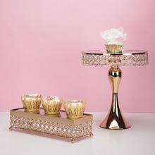 Роскошная золотая подставка для украшения свадебного торта, подставка для кекса, десертного стола, поднос для фруктов, десертный стол, подставка для макияжа