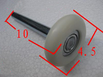 Free Shipping garage door pulley wheel nylon wheel tipping pulley 10*1 cm KF652