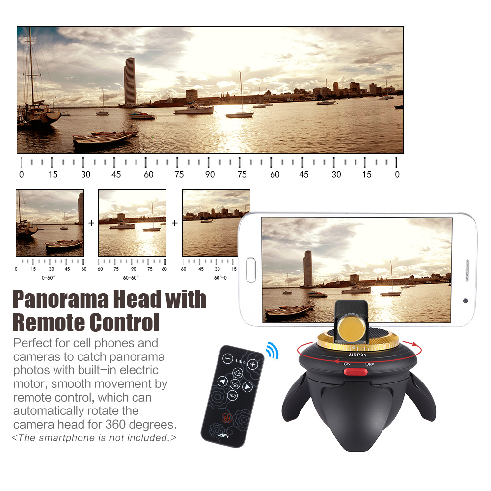 AFI MRP01 Mini Electric Panorama Head 360 Rotation Time Lapse Tripod Head for GoPro Action Camera for Selfie Stick Smartphones-in Tripod Heads from Consumer Electronics on Aliexpress.com _ Alibaba Group - 29