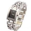 G & D Mulheres Presentes relógios de Pulso de Quartzo Relógios Dress Watch Relogio feminino Reloj Mujer Marca Top Luxo Casual Lady Prata geléia